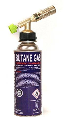 Lötbrenner Lötpistole Gasbrenner Gas Economic Brenner inkl. Adapter für MSF-1a Gaskartuschen und 1 x Gaskartusche MSF-1a