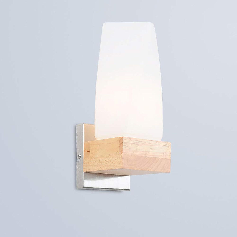 70% de descuento CSDM.AI Las Luces de Parojo Parojo Parojo de Madera Modernas, lámpara de Parojo de Cristal Interior Simple del LED para el Dormitorio L 19.5 cm de la Sala de Estar  Envíos y devoluciones gratis.