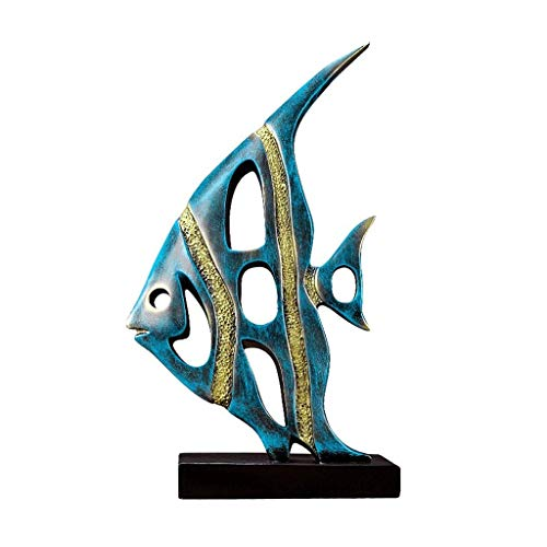 JYDQM Decoración, Shui Estatua de pescado de la suerte, Goldfish Decoración para el hogar Art Deco Arte de oficina