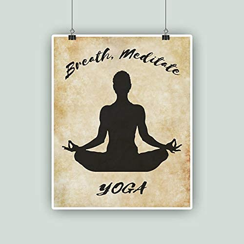 1510 Tin Sian - Cartel de metal para yoga, diseño vintage de la calle, garaje, calle, familia, cafetería, bar, cocina, granja, decoración de pared para baño, manualidades, 20,3 x 30,5 cm, gran regalo