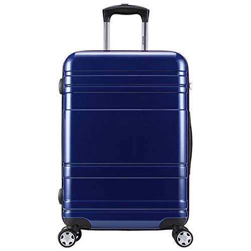 Adlereyire Trolley Suitcase Lightweight Durable Carry On Cabin Hand Luggage Set, Travel Bag with 4 Wheels (Color : Blue, Size : 41 * 25 * 65cm)