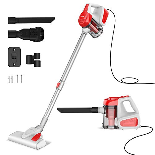 INSE Vacuum Cleaner, Corded Stick Vacuum, Handheld Vacuum, Powerful Suction 18KPa 600W, with HEPA Filter, Lightweight for Pet Hair Home Hard Floor