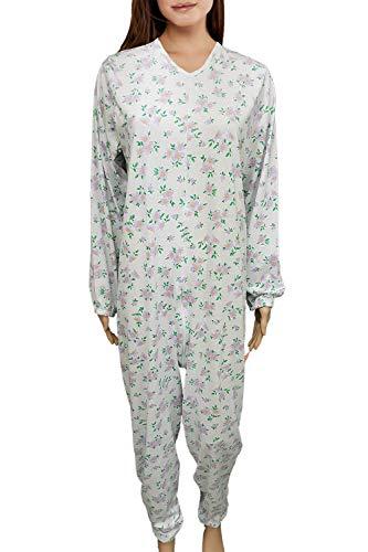 Pijama tutón sanitario para ancianos hombre mujer verano 100% algodón fresco, chándal...