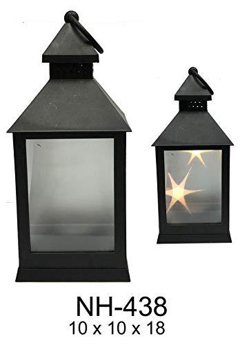 ROYMAR Candil met LED-wandlampen, kroonluchter en kandelaar, decoratie voor thuis, unisex, volwassenen, zwart (zwart), uniek