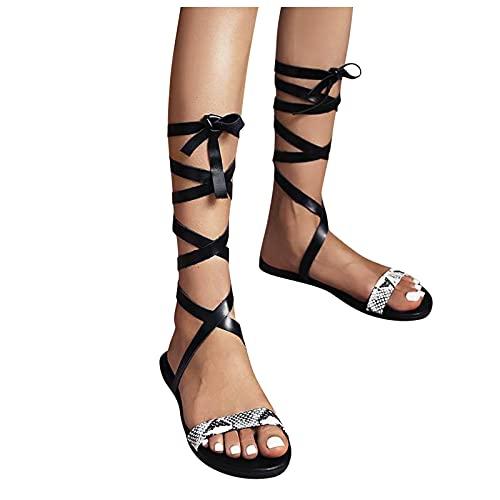Winging Sandalias Mujer Casuales los Zapatos en Blanco púrpura Y Negro Planos de la Flor Mujer Verano Playa Chanclas Pantufla para Punta Abierta Roma Casual Fiesta Cómodo Flip Flop