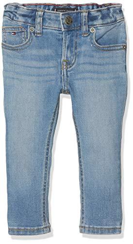 Tommy Hilfiger Baby-Jungen Scanton Slim MLST Jeans, Blau (Main Light Stretch 911), (Herstellergröße:80)