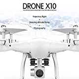 Creacom Quadcopter wificontroldrone RC Jouets & Hobbie Camera Photography, Blanc 4-Axis Photographie aérienne Drone RC WiFi avec caméra HD Gyro One Key Drone Return Phone Mobile Control Toy White