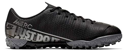 Nike Junior Vapor 13 Academy TF Soccer Shoes (Black/Cool Grey) (2.5 M US Little Kid)