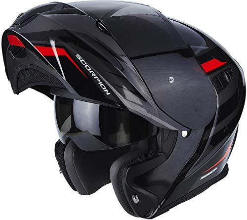 Scorpion 92-244-24-07 Integralhelm EXO-920 SHUTTLE Black-Silver-Red XXL