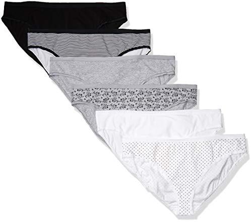 Amazon Essentials Size 6-Pack Cotton Stretch Bikini Panty Ropa Interior, Neutro, 5X Plus