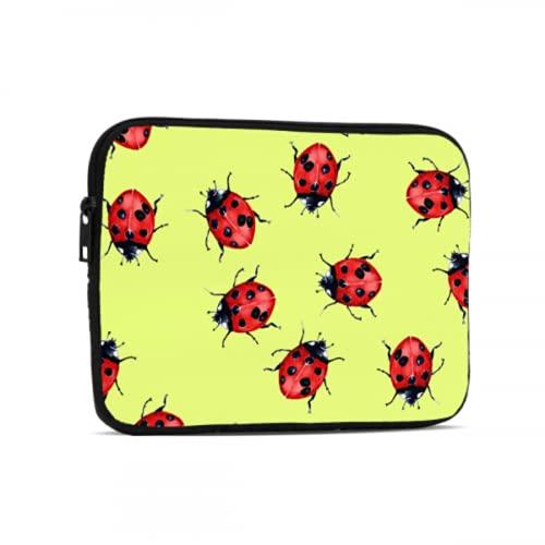 Bolsa Impermeable Una Gran cantidad de Encantadoras Bolsas de Tableta Ladybug de Siete Estrellas compatibles con iPad 7.9/9.7 Pulgadas Bolsa Protectora de Tableta de Neopreno a Prueba de