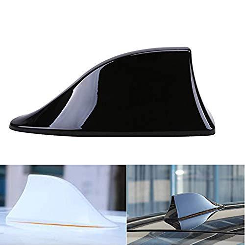Kelay Car Shark Fin Antena de radio aérea en blanco Señal de radio FM con adhesivo ABS Barniz-Negro