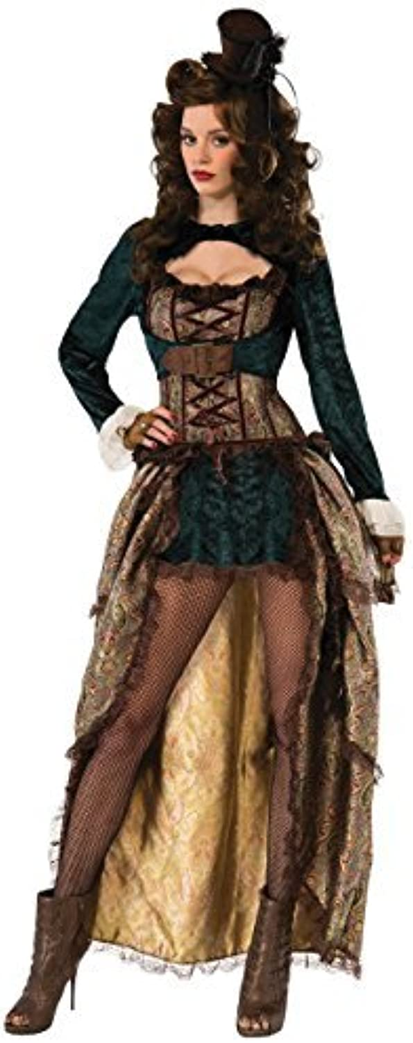 Ladies Deluxe Sexy Steampunk Burlesque Madame Cosplay Western Carnival Hen Do Night Fancy Dress Costume Outfit