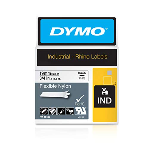 DYMO Industrial Flexible Nylon Labels | Authentic DYMO Labels, For Labeling Wires, Cables and More (3/4