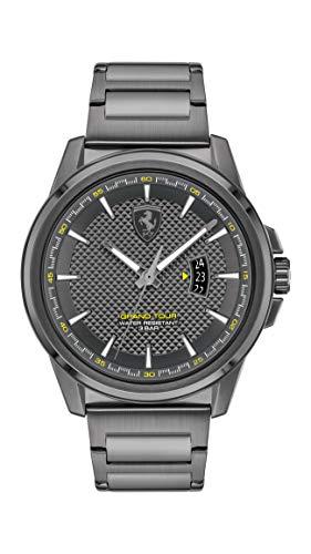Scuderia Ferrari Herren Analog Quarz Uhr mit Edelstahl Armband 830836