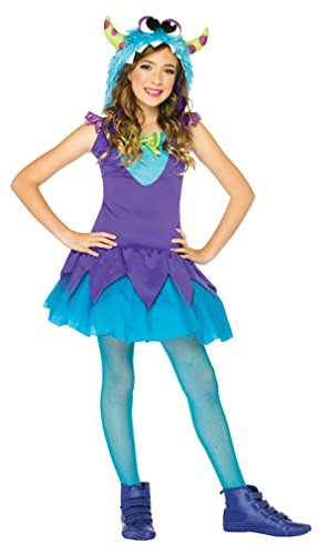 Girl's Cross-Eyed Carlie Monster Costume