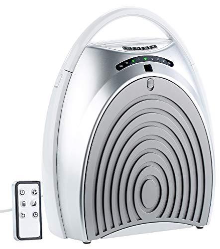 newgen medicals HEPA Luftfilter: 4-Stufen-Luftreiniger mit UV-Licht, Ionisator, Timer, Fernbedienung (Raum-Luftfilter)