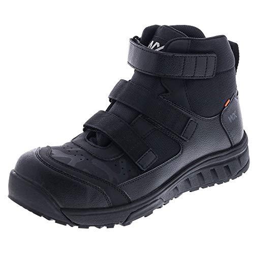 アシックス 商事 安全靴 マジックテープ TEXCY WX(テクシーワークス) ベルトタイプ ワークシューズ WX-0008 ハイカット JSAA規格 A種 26.5 008ブラック