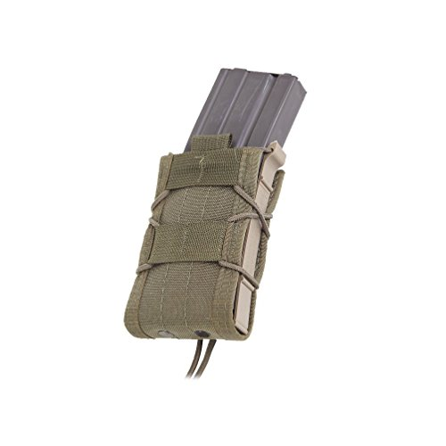 High Speed Gear Single Rifle TACO Pouch | Universal Rifle Magazine Holster | Rapid Response and MOLLE Compatible (Olive Drab, One Pack)