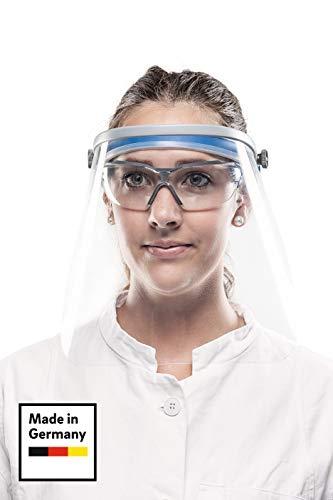 REHAU Face Shield - Gesichtsschutz mit bewegbarem Klappvisier - leicht, bequem, sicher (1 Stück)