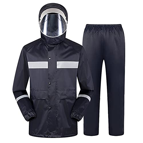 Traje de Lluvia Impermeable Reflectante Dividido Chubasquero y Pantalones ConjuntosRopa de Seguridad de Alta Visibilidad, per Motocicleta Motocross Deportes