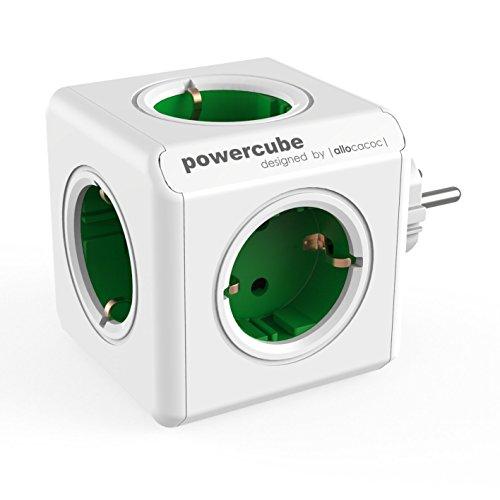 Allocacoc PowerCube originele stekkerdoos (5x verdeler, 230V Schuko) groen