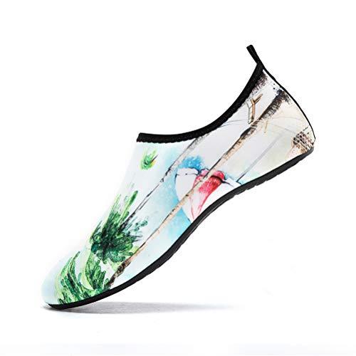LK LEKUNI Zapatos de Agua Hombre Mujer Zapatos de Piel descalza para Surf Swim Beach Playa Yoga