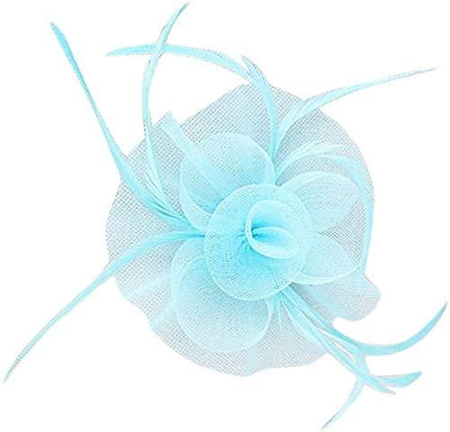 Fleur Net plumes Postiche Clip pour femmes Mariage courses goûters Église Chapeau