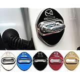 4枚セット 5色選択可 マツダ MAZDA ストライカー カバー ドアロック カバー メッキ 高品質 鏡面ステンレススト 全車種対応 マツダ社外品 (レッド)