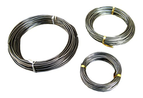 150Feet Anodized Aluminum Bonsai Training Wire 3-Size Starter Set, Multipurpose Crafting DIY Wires Ties - 1.0mm, 1.5mm, 2.0mm(Each 50Ft), Easy Bending Cutting, Quality Alu Tie Wire 3 Size Pack (Black)