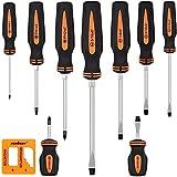 BRIMIX 10 pc Juego de destornilladores magnéticos, puntas Phillips y planos, con magnetizador
