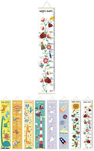 【AMS】子供身長計 壁掛け 身長測定シール 子供の成長記録 部屋の装飾 おしゃれ かわいい 出産祝い (フラワー)