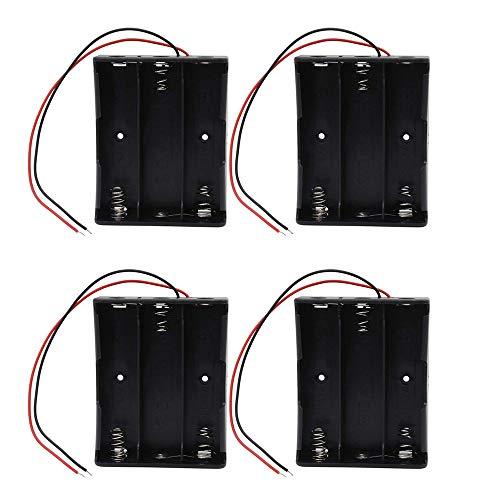 4 Pezzi 18650 Batteria Scatola Collegamento in Serie Batteria al Litio Plastica con Conduttori per Saldatura Semplice e Collegare (3 Slots)