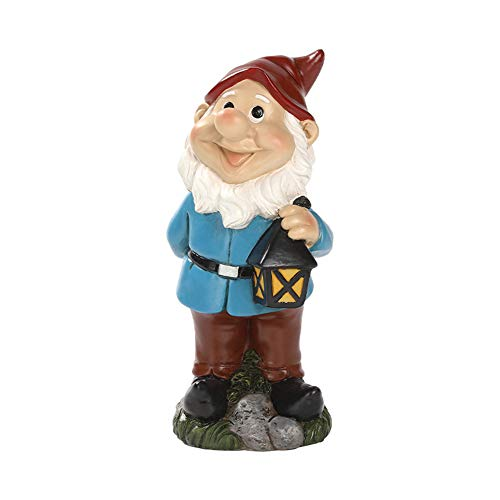Sswweett Garden Gnome Statue,Hand Crafted Hand Painted Resin Sculpture,fariy Gnome Garden Ornaments,Decoration for Outdoor Indoor Lawn Patio Yard,20x9x9cm