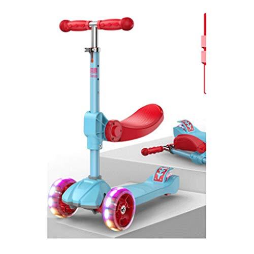LZL Roller für Kinder Flash mit Musik-Rollern für Kleinkinder Jungen Mädchen im Alter von 2-12 Jahren,...