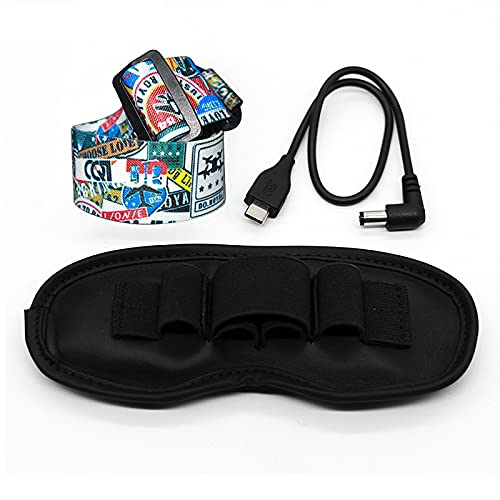 Fututech Kit Kopfband verstellbare Kopfbänder + Tasche + Kabel für DJI FPV Goggles V2 Helm und andere Marken von VR-Brillen Drohnenzubehör