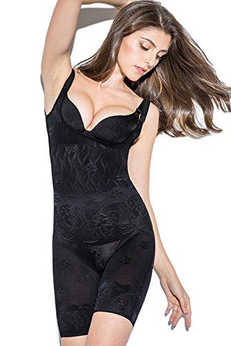 Women's Shapewear Body Shaper Bodysuit-Back Open Design for Toilet,Black,XXL