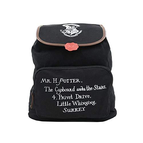 Harry Potter Damen Hp00246 Rucksack 32x30x16, Schwarz/Weiß/Rot, 34Centimeters x 30Centimeters x 14Centimeters