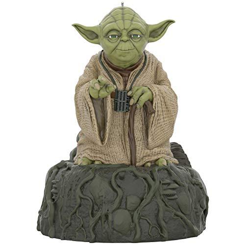Hallmark Keepsake Christmas Ornament 2020, Star Wars: The Empire Strikes Back Jedi Master Yoda With Sound and Motion