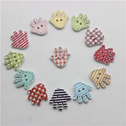 ZJDY Mezcla Coloridas Botones de Madera Animal de la Historieta de Scrapbooking DIY Crafts los niños del bebé Ropa de Costura Accesorios Decoración (Color : Palm)