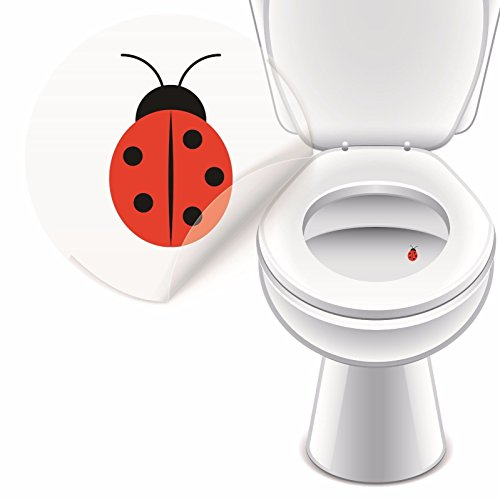 LK Trend & Style Toilettenaufkleber WC Sticker lustig Pinkelhilfe Stehpinkler Toilettensticker (Marienkäfer)