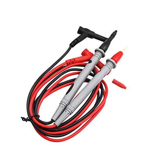 camellia® Multimeter Test Stick Nadelfaden Universal Digital Multimeter Teststift Draht Stift Kabel Messleitung Multimeter Tisch Linie Stift (Black & Red)