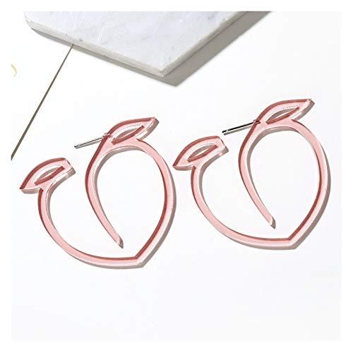 LCHB Pendientes Coloridos del Arco del Diamante de imitación (Color : E2457)