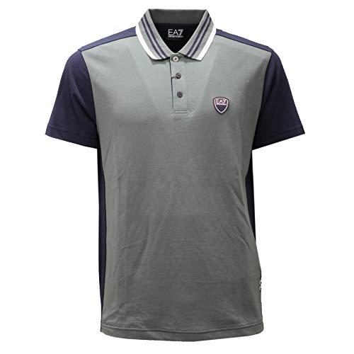 Armani 5546AD Polo uomo Emporio EA7 Green/Blue Cotton Polo-Shirt Man [M]