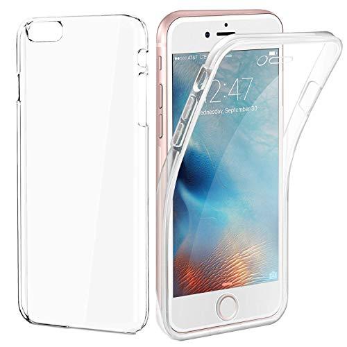 AURSTORE Coque IPHONE 7PLUS/8PLUS – Protection intégrale Avant + arrière en Rigide, Housse Etui Tactile 360 degré – Antichoc, Transparent 7PLUS/8PLUS