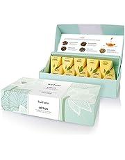 Tea Forte Petite Presentation Box Tea Samplers, Assorted Variety Tea Box, 10 Handcrafted Pyramid Tea Infusers