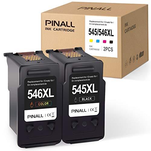 PINALL 2 Kompatibel Canon PG-545XL CL-546XL für Canon PIXMA MX495 iP2850 MG2450 MG2550 MG2550S MG2950 MG3050 MG3051 TS205 TS305 TS3150 TS3151 Drucker