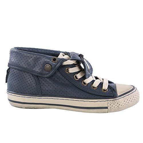 Matchless Damen Leder Sneaker Schuhe WATTS HIGH Vent Navy 142019 (Numeric_36)