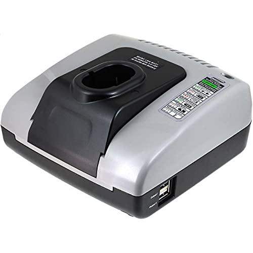 Powery Cargador de batería con USB para Hitachi Tipo de batería EB 1220BL