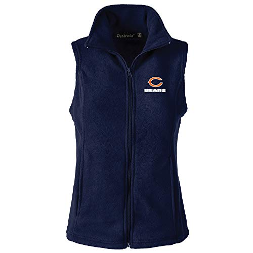 NFL Chicago Bears Womens Houston Ladies Fleece Vest, Navy, 3X-Large>